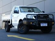 2012 Toyota Hilux KUN26R MY12 SR White 5 Speed Manual Cab Chassis Maddington Gosnells Area Preview
