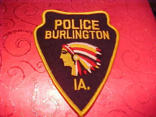 BURLINGTON IOWA POLICE PATCH SHOULDER SIZE UNUSED