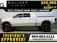 2011 RAM 3500 DIESEL LIFTED *EVERYONE APPROVED* $0 DOWN $299/BW!