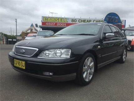 2005 Ford Fairlane BF Ghia Black 6 Speed Sports Automatic Sedan Campbelltown Campbelltown Area Preview