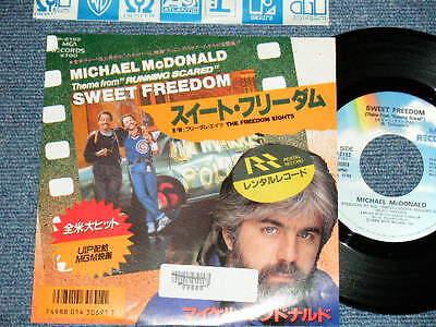"MICHAEL McDONALD of DOOBIE BROTHERS  Japan 1986 NM 7""45 SWEET FREEDOM"