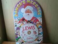 New personalised CD santa message-lewis