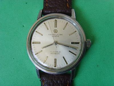 Vintage Swiss Favre-Leuba 17J Mechanical Manual Used Watch