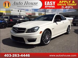 2013 Mercedes-Benz C63 AMG Coupe NAVI, ROOF 90 DAYS NO PYMT