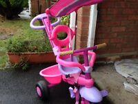 Girls pink smart trike