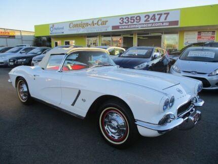 1962 Chevrolet Corvette White 4 Speed Manual Roadster Kedron Brisbane North East Preview