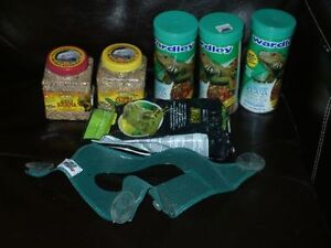 Iguana and bearded dragon care packages for sale.