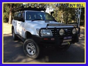2003 Nissan Patrol GU III ST-L (4x4) White 5 Speed 5 Sp Manual Wagon Lansvale Liverpool Area Preview