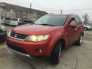 2008 Mitsubishi Outlander XLS NAVI DVD BT Leather Sunroof 4WD