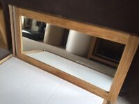 Extra Large Solid Oak Mirror
