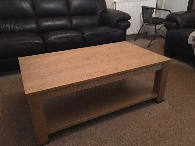 Solid Oak Coffee Table And Matching Side Table Price