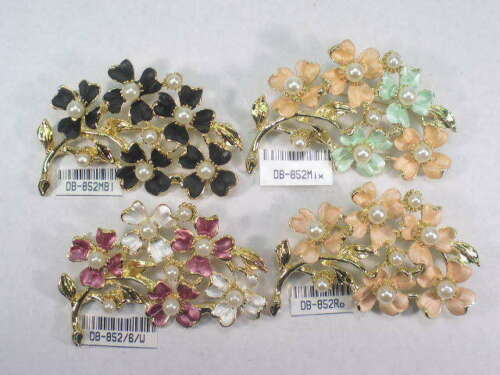 DESIGNER  SIGNED VINTAGE WITH FAUX PEARLS  PIN BROOCHS  LOT 852.4UP