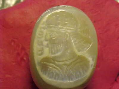 Sassanian stamp seal  (Royal Bust)  circa 224-642 AD.