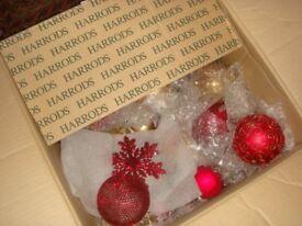 Harrods Glass Christmas Tree Decorations