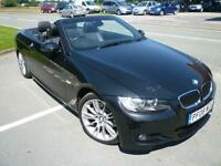 2008 BMW 325 3.0 convertible M Sport manual 67165 miles black shrewsbury
