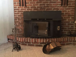 Large Cast Iron Wood Stove and Accessories