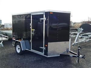 6X10 V-Nose Cargo Trailer with Barn Doors