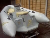 4.2 zodiac projet Yamaha rib on a snipe break back trailer many new parts