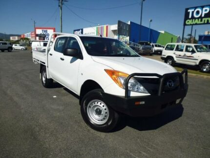 2012 Mazda BT-50 B32P TURBO XT (4x4) White 6 Speed Manual Dual Cab Chassis Bungalow Cairns City Preview