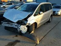 BREAKING FOR PARTS FORD GALAXY GHIA 2007 1.8 TDCI 125 BHP IN STARDUST SILVER
