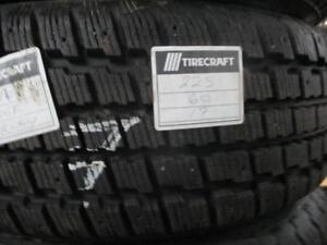 225/60 R17 WINTER TIRES ON STEEL RIMS COOPER WEATHER MASTERS USED TIRES (SET OF ) - APPROX. 85% TREAD