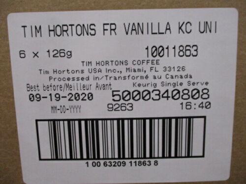 Tim Hortons French Vanilla Medium Roast Coffee Keurig K-Cup 72 Count