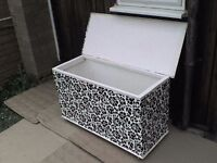 Large Wooden Storage Box with Roller Wheels - Heathrow