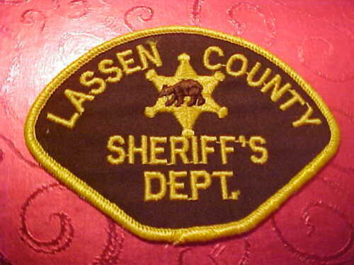 LASSEN COUNTY CALIFORNIA POLICE PATCH  SHOULDER SIZE UNUSED