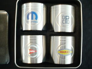 Set of 4 Mopar Piston Styled Beer Holders New in Tin