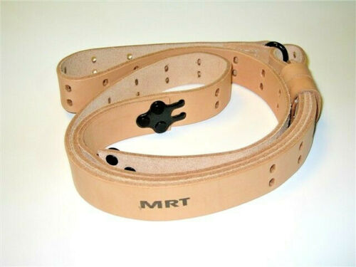 M1907 NATURAL LEATHER RIFLE SLING for M1 GARAND,HEAVY MATCH GRADE,