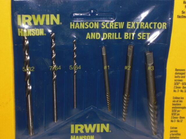 IRWIN HANSON 6 PIECE SCREW EXTRACTOR SET 53700