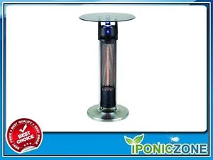 "OUTDOOR/INDOOR 37.5"" Tall 1500W Infrared Heated Table"