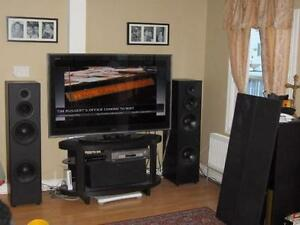NUANCE® HOME THEATRE SPEAKERS SURROUND SOUND SYSTEM $1500 LOUD!