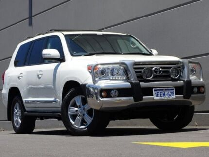 2013 Toyota Landcruiser VDJ200R MY12 Sahara White 6 Speed Sports Automatic Wagon Maddington Gosnells Area Preview