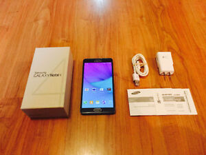 Samsung Galaxy Note 4, 32 Gigs, Unlocked GREAT DEAL