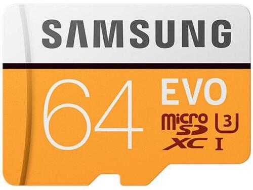 Samsung 64GB EVO Microsdxc UHS-I/U3 Memory Card With Adapter, Speed UP To 100MB/