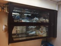 Glass Display Cabinet (Morris Furniture) with working lights and mirror
