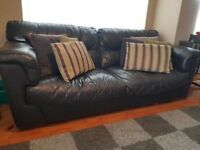 Genuine 3+2 brown leather sofas