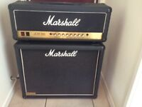 Marshall JCM 900 Hi Gain Master Volume Mark 111 with JCM 800 1960 2 x 12 speaker cabinet