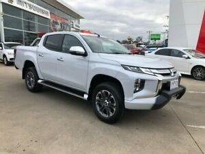 2019 Mitsubishi Triton MR MY19 GLS Double Cab Premium White 6 Speed Sports Automatic Utility Hoppers Crossing Wyndham Area Preview