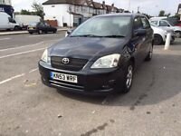 TOYOTA COROLLA 1.6 VVTI FOR SALE- NEW CLUTCH, PART SERVICE HISTORY.