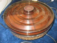 EKCO Vintage Hostess Tray Carousel Warming Plate Lazy Susan - Works brilliantly