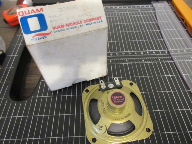 """Vintage 3.2 Ohm 3"""" Quam Speaker 30A05 - NOS"""
