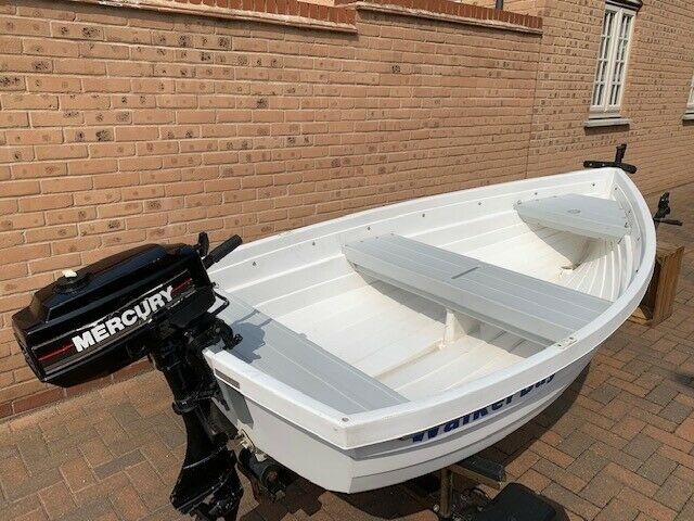 Rowing boat, fishing boat, walker bay 8, 3.3hp outboard and road trailer