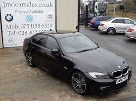 BMW 3 SERIES 318D M SPORT 141BHP 4DR SALOON (FINANCE & WARRANTY (black) 2010
