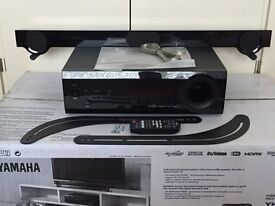 """Yamaha YHT-S401 Soundbar - Remote Control, 3 HDMI inputs. Boxed in excellent """"as new"""" condition"""