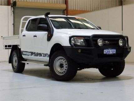 2014 Ford Ranger PX XL Double Cab White 6 Speed Sports Automatic Cab Chassis Bibra Lake Cockburn Area Preview