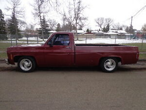 1975 CHEVROLET SCOTTSDALE LOWERED 454 PUNCHED OUT TO 468