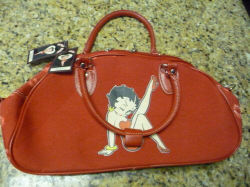 Brand New 2004 Betty Boop handbag travel bag purse pocket book satchel red NWT