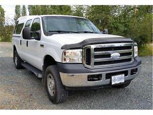 2006 FORD F250 4X4 ONLY 123,719 KMs XLT CREW CAB, Canopy $15,900 Prince George British Columbia image 7
